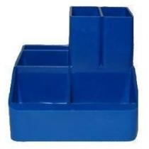 Подставка настольная для ручек, синяя