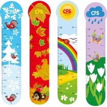 """Закладинки пластикові для книг """"Seasons"""" (4шт.)"""