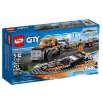 """Конструктор Лего """"4x4 с моторной лодкой"""""""