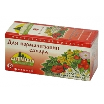 Чай Карпатська лічніця Для нормалізації цукру 25*1г