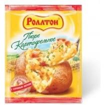 Пюре Роллтон картофельное со вкусом мяса, 37г