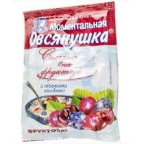 Каша Овсянушка с лесн.ягодами фруктозой и сливками