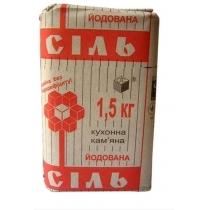 Соль каменная йодированная, 1,5кг