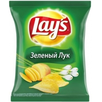 Чипсы Lay's со вкусом зеленого лука