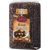 Рис World's rice черный