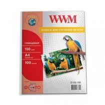 Фотобумага WWM 13х18см, глянцевая, 180 г/м2, 100 л.
