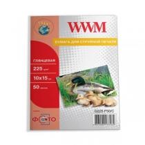 Фотобумага WWM 10x15см, глянцевая, 225 г/м2, 50 л.