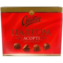 Конфеты Світоч Палитра Ассорти молочный шоколад