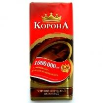 Шоколад Корона черный пористый