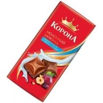 Шоколад Корона молочный с изюминами и орехами
