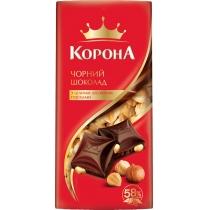 Шоколад Корона черный с орехами