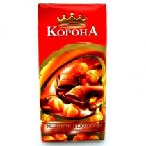 Шоколад Корона молочный с орехами