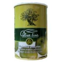 Оливки Olive Line огромные зеленые с косточкой ж/б
