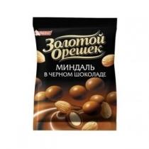 Драже Золотой Орешек миндаль черный шоколад, 100г