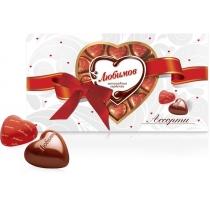 Конфеты Любимов Шоколадные сердечки, 225г