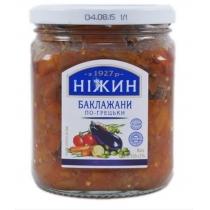 Баклажаны Ніжин По-гречески в оливковом масле 450г