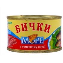 Бычки Море обжаренные в томатном соусе №5, 230г