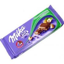 Шоколад молочный Milka с орехами 90 г