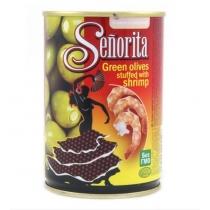 Оливки Senorita зеленые с креветкой, 280г