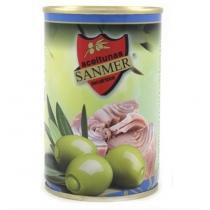 Оливки Sanmer зеленые начин.пастой из тунца
