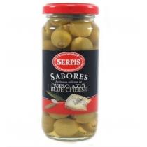 Оливки Serpis зеленые фаршированные голубым сыром