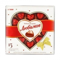 Конфеты Любимов молочный шоколад орех пралин, 125г