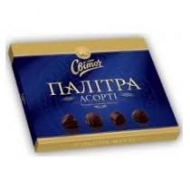 Конфеты Світоч Палитра Ассорти темный шоколад 200г, 200г