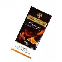 Шоколад черный Millennium с апельсиновой цедрой 74% 100 г