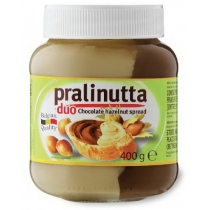 Паста Pralinutta Duo шоколадная с молоком, какао и лесным орехом 750 г