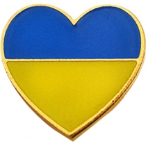 """Значок """"Серце"""" 15*14 мм"""