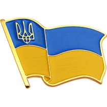 """Значок """"Флаг Украины"""" великий 24*16 мм"""