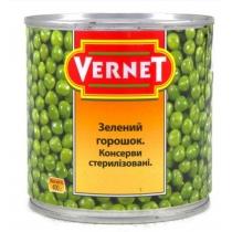 Горошек Vernet зеленый ж/б, 400г