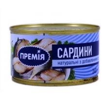 Сардина Премія натуральная с добавлением масла, 240г