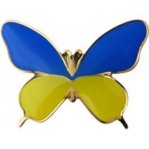 """Значок """"Бабочка""""  с полимерным покрытием 35*25 мм"""