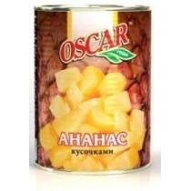 Ананас Oscar кусочки в собственном соку ж/б