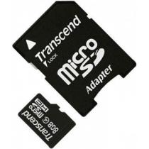 Карта памяти MicroSDHC 8Gb TRANSCEND Class 4 с SD адаптером