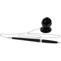 Ручка шариковая на подставке Economix DESK PEN 0,5 мм. Корпус черный, пишет синим