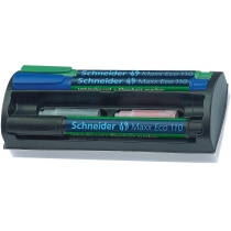Набор маркеров для досок и флипчартов Schneider MAXX 110 с губкой