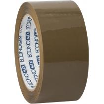 Стрічка клейка пакувальна (скотч) Economix, коричнева, 48мм*100м