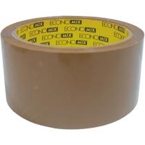 Лента клейкая упаковочная (скотч) Economix, коричневая, 48мм*50м