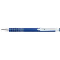 Ручка кулькова металева Optima Shiny, синя