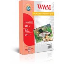 Фотобумага WWM А4, глянцевая,225 г/м2, 20 л.