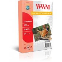 Фотобумага WWM 10х15см, глянцевая, 180г/м2, 20л.