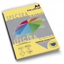 Бумага цветная SINAR SPECTRA, А4, 80 г/м2, 100 л, пастель, желтая
