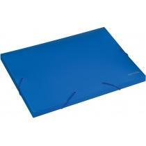 Папка-бокс пластиковая А4, 20мм, на резинках, синяя