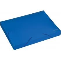 Папка-бокс пластиковая А4, 40мм, на резинках, синяя