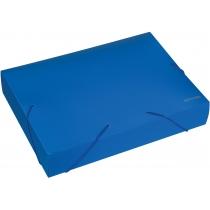 Папка-бокс пластикова А4, 60мм, на гумках, синя