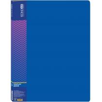 Папка пластикова з 20 файлами, синя