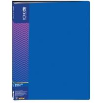 Папка пластиковая с 40 файлами, синяя
