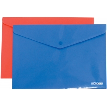 Папка-конверт А4 непрозрачная на кнопке, фактура апельсин